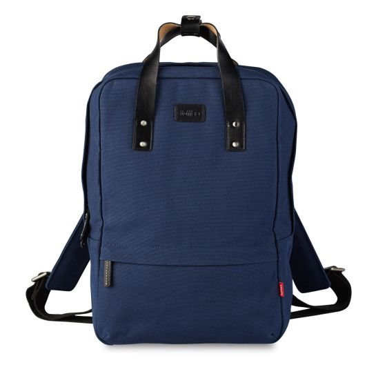 Navy Centennial Backpack #13inch #macbook #waxedcanvas #leather  Shop here >> http://www.toffeecases.com/en/home/49-centennial-backpack.html#/color-navy_canvas/size-13_macbook_pro_w_retina