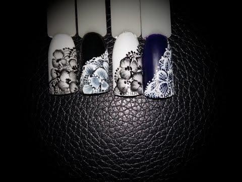 """МРАМОРНЫЙ шеллак маникюр с КРУЖЕВОМ """"Розовые Грезы""""   Дизайн гелевых ногтей УЗОРЫ на ногтях пошагово - YouTube"""