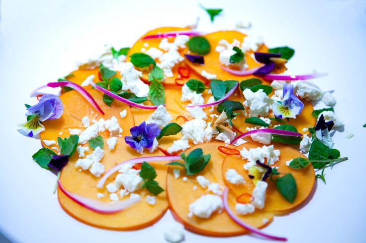 Tales of a social eater: Persimmon Salad