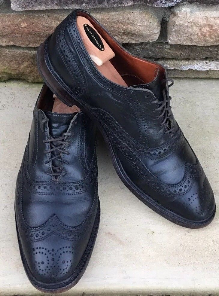 1973a2476 Allen Edmonds US Size 11 1 2 3E McTavish Oxford Wingtip Black Dress Shoes   fashion  clothing  shoes  accessories  mensshoes  dressshoes (ebay link)