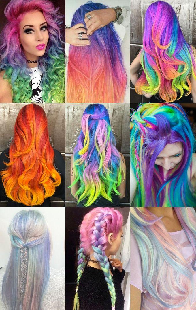 [Inspiração] - Cabelos coloridos   Chat Feminino