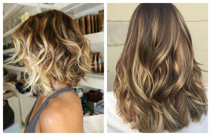 Покраска волос в технике балаяж, фото