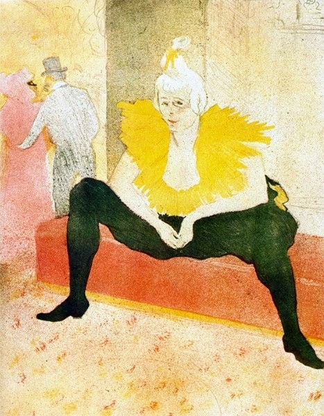 Zdjęcia na płótnie - Reprodukcje - Sitting Clown by Toulouse-Lautrec -obrazy na ścianę