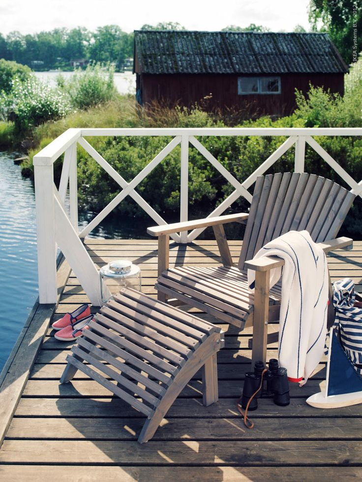 I WILL have a chair like this on a dock at my future house... no if's, and's, or but's