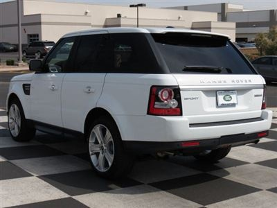 My absolute dream car! 2012 Land Rover Range Rover Sport White  I will have this car one day!