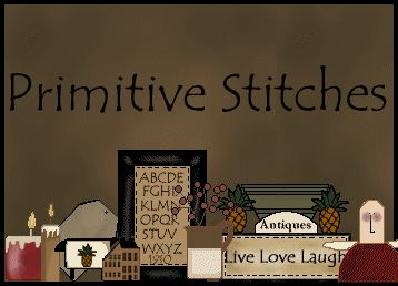 This is a great website for primitive stitching patterns.  I have purchased several patterns and stitched them from this site. They have all turned out beautiful.