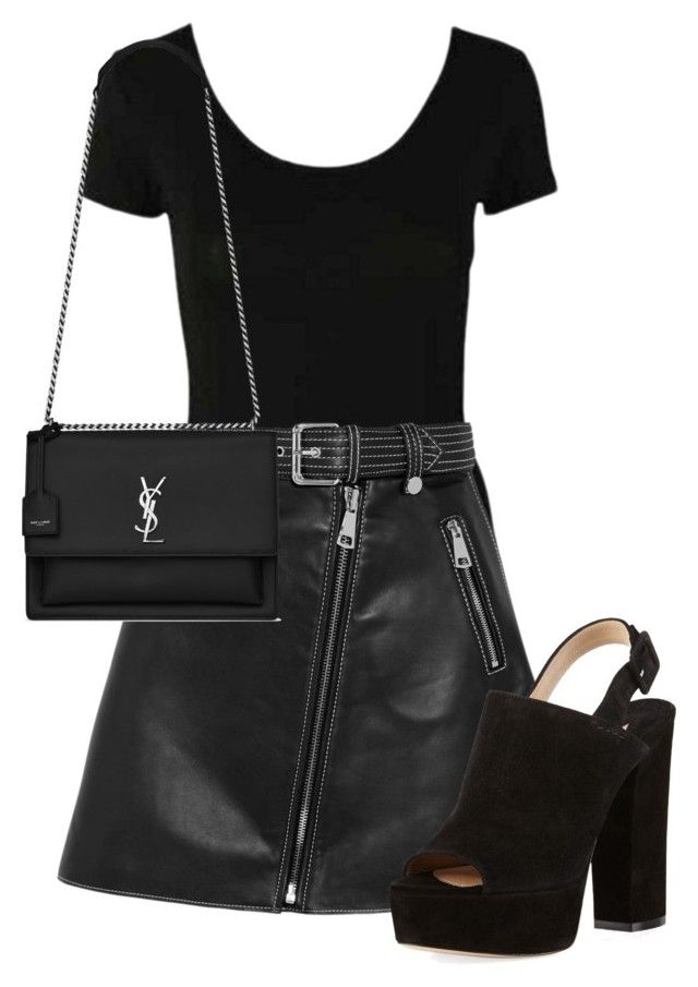 """""""#6"""" by josecamerano on Polyvore featuring moda, Maje, Paul Andrew y Yves Saint Laurent"""