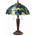 Tiffany Style Blue Vintage Table Lamp | Overstock.com