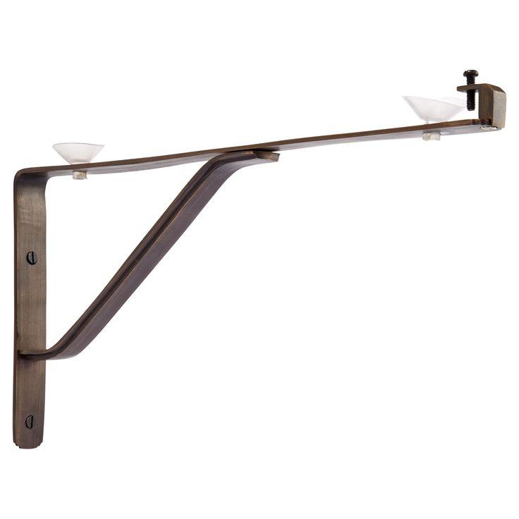 traditional glass shelf bracket