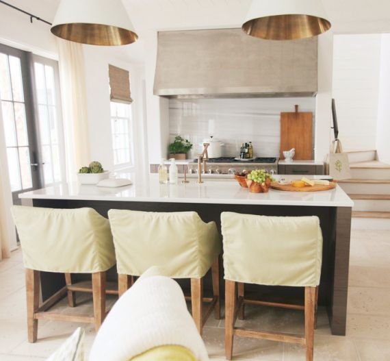white kitchen with brass accents // via Urban Grace | NASH
