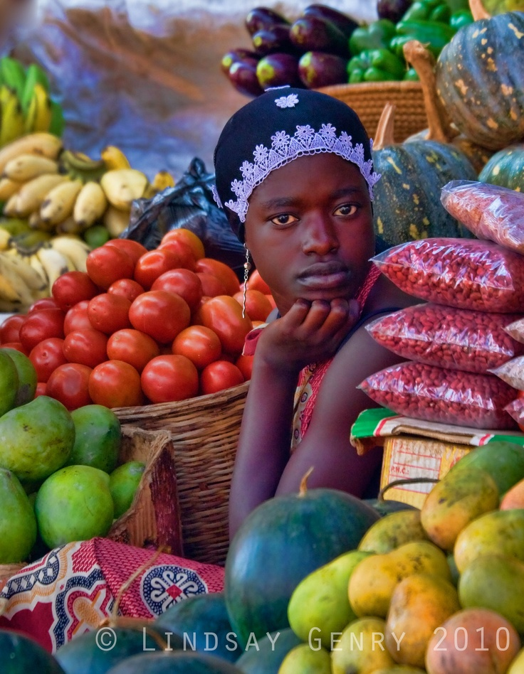 Marketplace in Kampala, Uganda