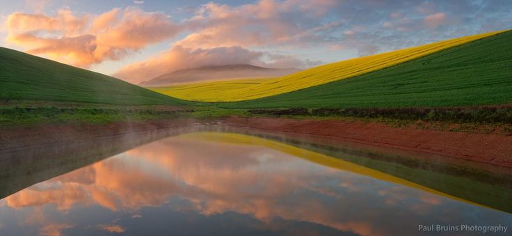 A Photo by Paul Bruins, photographer based in Greyton, South Africa of a dam in the area between Caledon and Arniston 2014