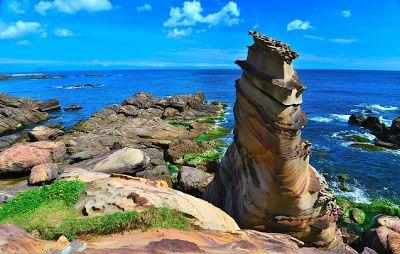 Nanya Rock (Taiwán). La costa noreste de la isla de Taiwán esconde un gran número de formaciones rocosas extrañas, esculpidas poco a poco por el mar y el viento.