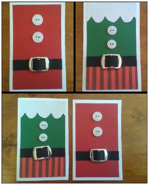 Santa and elf Christmas cards