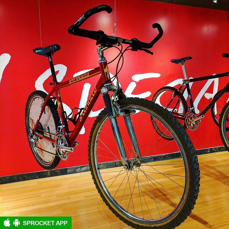 1992 Specialized StumpJumper M2 Team Edition mountain bike ridden by Ned Overend a six-time NORBA CX MTB National Champion and winner of the 1990 UCI MTB World Championship.  Get the Sprocket bike app on GooglePlay and AppStore  Check out this bike in the Sprocket app http://ift.tt/2rmpgql  #Specialized #StumpJumper #SpecializedStumpJumper #SpecializedStumpJumperM2 #93SpecializedStumpjumperM2FS