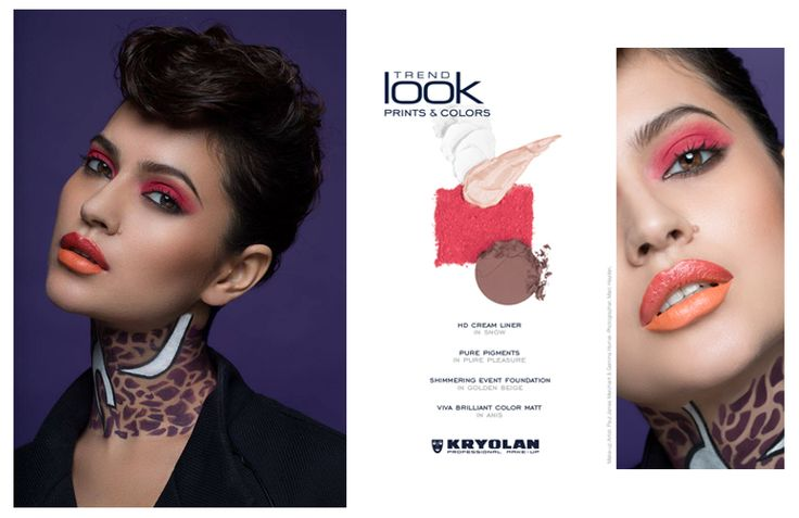 Kryolan Τrendlook Spring Summer '16             Prints & Colors