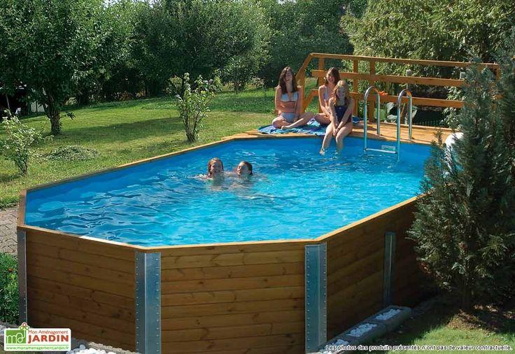Les 25 meilleures id es de la cat gorie piscine hors sol - Piscine acier enterrable ...