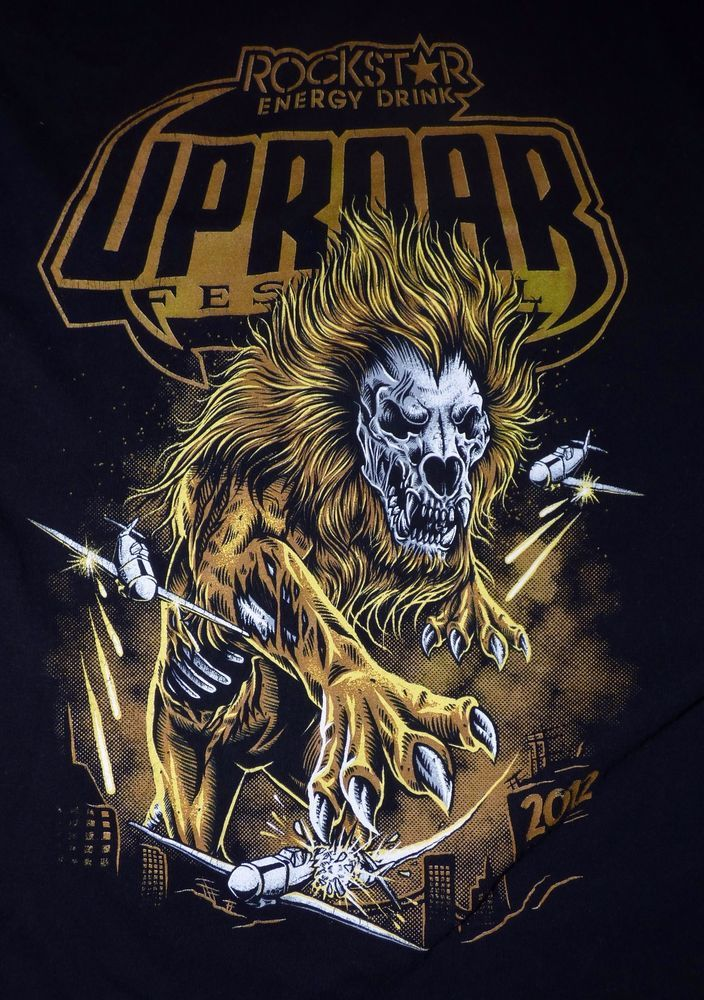 Rockstar Energy Drinks Uproar Festival 2012 Tour Shirt Size XL #Hanes #GraphicTee