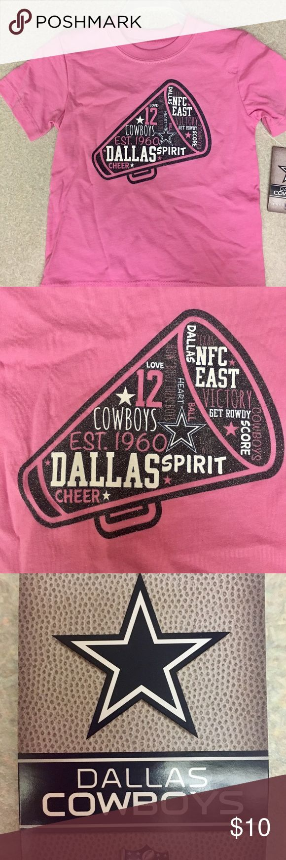 Dallas Cowboys Authentic Apparel T-Shirt 2T Pink and blingy girls Dallas Cowboy t-shirt 2T Dallas Cowboy Authentic Apparel Shirts & Tops Tees - Short Sleeve