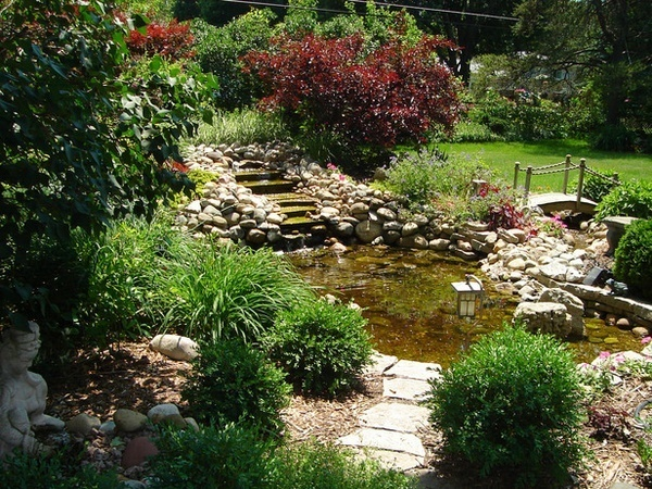 Front Yard Landscaping Ideas Beautiful Pond Waterfall