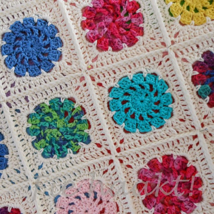 Fie bake, crochet and sew !: Detail pictures granny sqaures