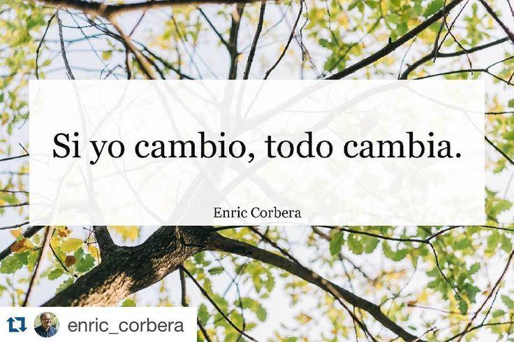 #Repost @enric_corbera with @repostapp.  Si yo cambio todo cambia. #cambiar #enriccorbera