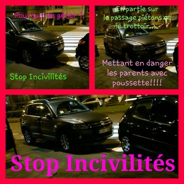 Prquoi se gêner? Cet automobiliste se rend-t-il compte qu'en utilisant, en partie, le #passage_piétons comme  #parking, il met en #danger les #piétons? Des parents avec #poussette  ont dû commencer à traverser ce carrefour #dangereux hors clous par manque de place suite à son manque de #respect ! Honte à vous!!!!  Le 03.02.2016 à 22h45 au croisemeAvenue de Broquevillelle et Constant Montald à Woluwe-Saint-Lambert…