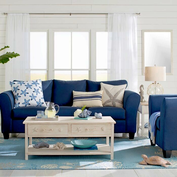 Living Room Decor Inspiration From Wayfairs Coastal Designer Rooms Shop The Look In 2021 Beach House Living Room Beach Living Room Coastal Living Rooms