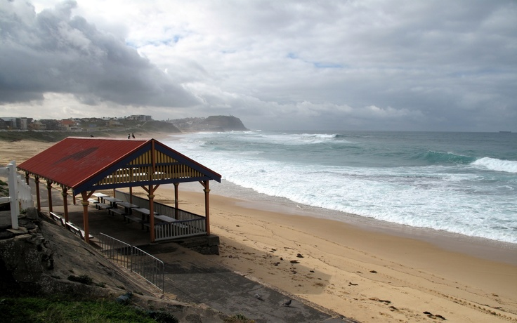 Looking north from the Merewether Surf House. (Photo by me using Canon PowerShot G10)