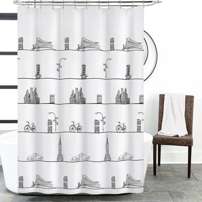 Dkny Shower Curtain Purchased Fabric Shower Curtains Stylish
