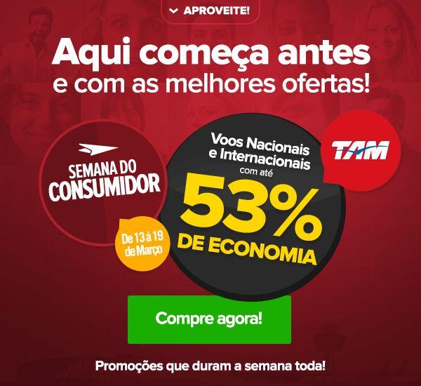 Outras VIAJANET - Semana do Consumidor - Voos Nacionais e Internacionais com até 53% OFF