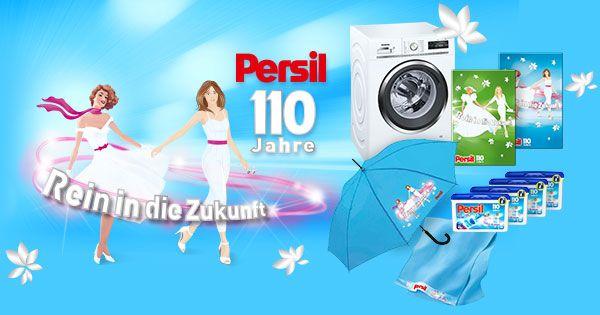 Persil feiert 110-jähriges Jubiläum - sichern Sie sich beim Gewinnspiel tolle Chancen auf 1 von 10 Siemens Waschmaschinen & 100 Jubiläumspreise.