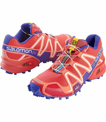 See more detail about Speedcross Trail Shoe - Papaya/melon/blue at TitleNine.com