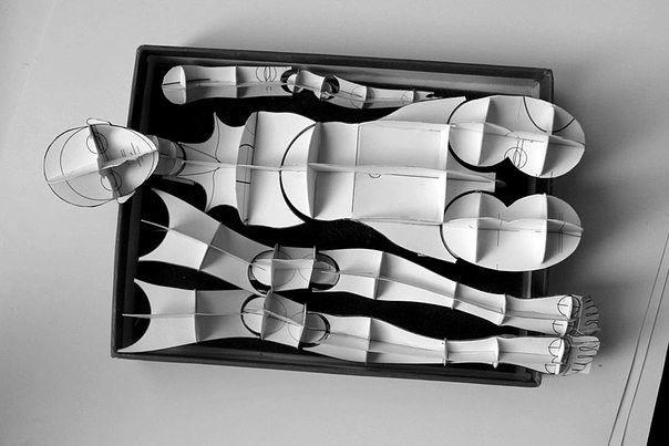 БЖД ; 1 Бумажный 3D каркас  ✂
