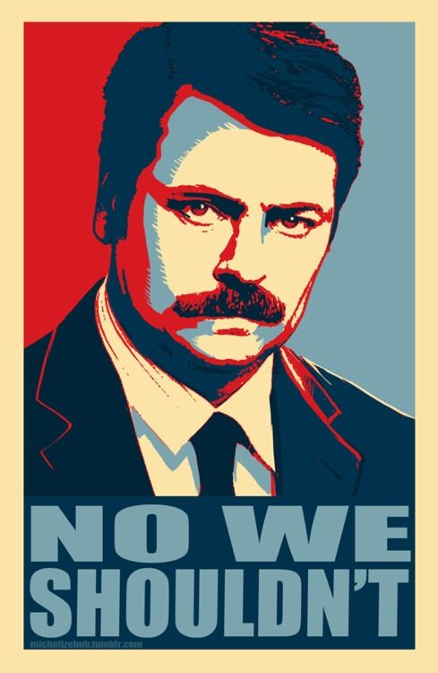 ron swanson for president 2016 what the what