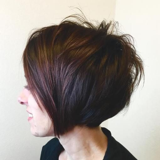 Brunette Layered Bob