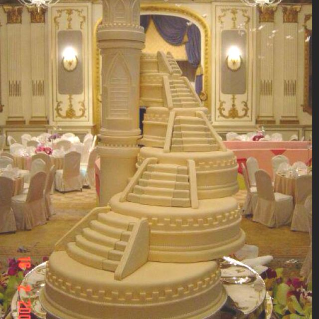 image of a stairs in wedding cake stairway wedding cakes wow stairway to heaven cake 16312