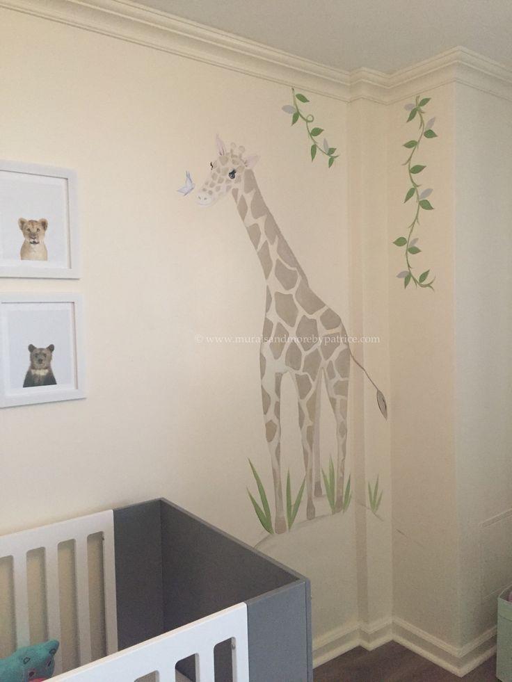 #muralsandmorebypatrice #safarinursery #mural #nursery Part 87