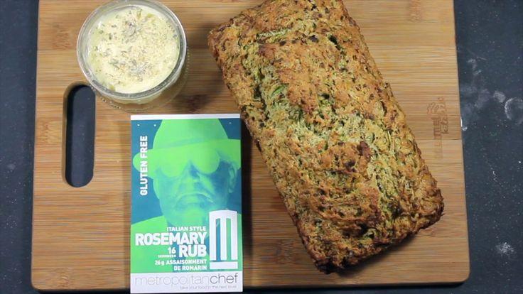 Italian Style Rosemary Rub Zucchini Bread
