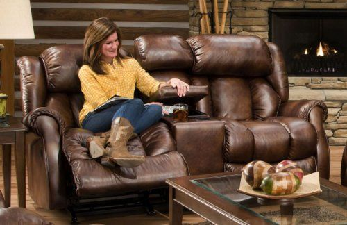 American Furniture AF750 Console Rocking Loveseat Color: Gracia Tobacco (1635) 98%Poly/2% PU. Made in America. Frames constructed in hardwoods and furniture grade plywood.