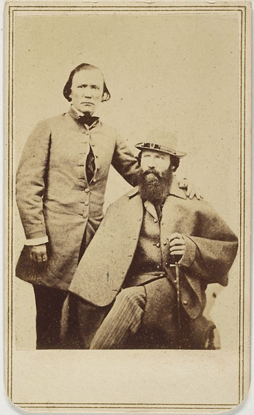Extremely rare CDV of legendary Kit Carson & Civil War Government Expediter, Edwin Perrin in New Mexico Territory. (c. 1862).