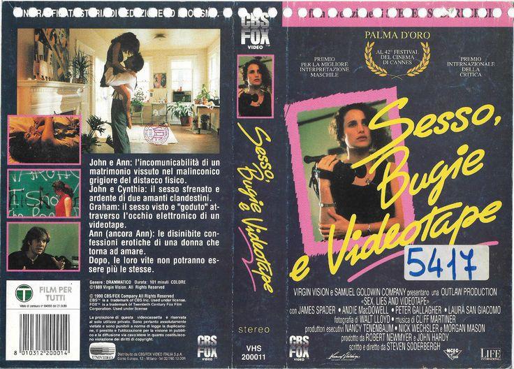 SESSO, BUGIE e VIDEOTAPE (SEX, LIES & VIDEOTAPE '89), PAL VHS, LIFE INTERNATIONAL -  CBS/FOX Video (Italia/Italien/Italië/Italy/Ιταλία, EU) #goths #EU27 #Erasmus #Brexit #Brexshit #nostalgie #Trump #Iovotono #arthouse #bohemian #indie #Aries #Cancer #crab #Leo #lion #Pisces #fish #Mesha #Karka #Simha #Meena #Ram #Kreeft #Leeuw #Vissen #Ikinä #Charlotte #Gainsbourg #Lou #Doillon #Asia #Argento #Jane #Birkin #Christina #Ricci  #grufti #Jessicka #Picha #grunge