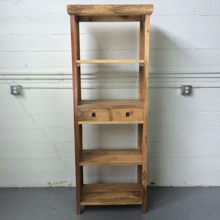 """Sederhana Bookcase """"A"""", made from salvaged wood found in Indonesia."""