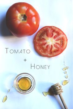 tomato and honey makes your face glow all day cut up a slice of tomato and mix with a little bit of honey until thick, put on face and wash off in morning, put towel down on pillow.