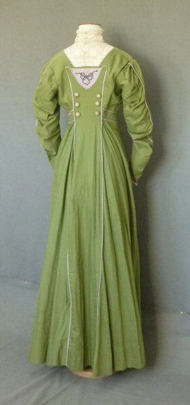 c.1910 green, white and violet  Suffragette Sympathizer's Dress