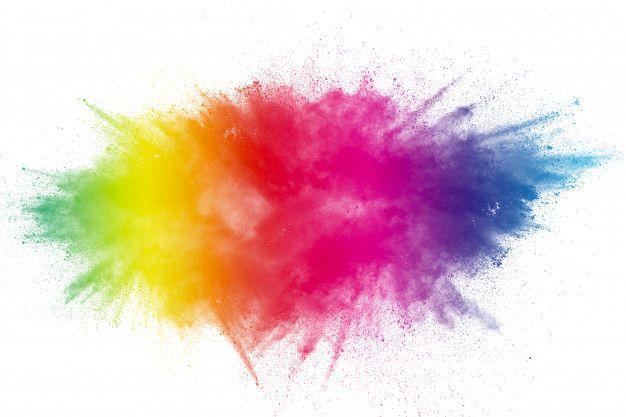 Color Powder Explosion On Transparent Background Color Powder Holi Colors Holi Powder