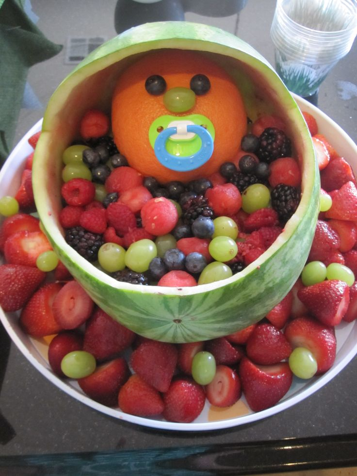 Marvelous Baby Bassinet Fruit Tray For Baby Shower