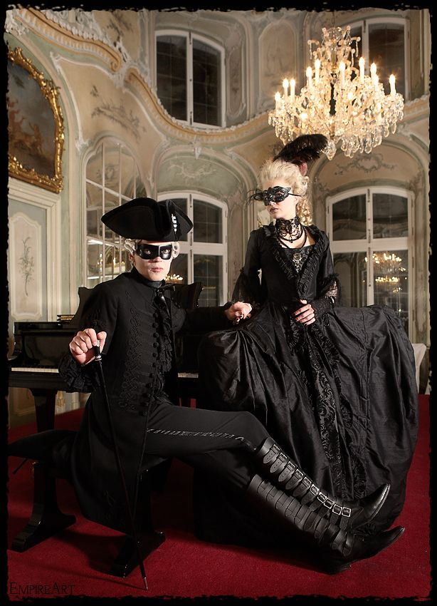 Adelina and Gallivant were required to dress in black for the ball at the end of the Days of the Dark...