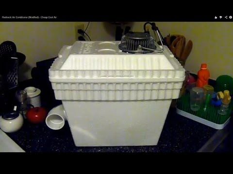 Redneck Air Conditioner (Modified) - Cheap Cool Air - YouTube