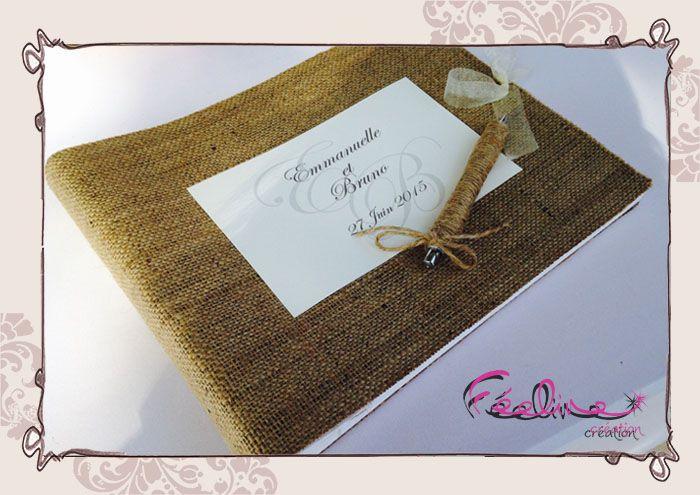 17 meilleures id es propos de cadeaux d 39 invit de mariage de toile de jute sur pinterest - Livre d or toile de jute ...